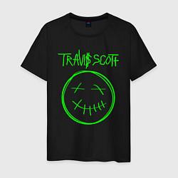 Футболка хлопковая мужская TRAVIS SCOTT цвета черный — фото 1