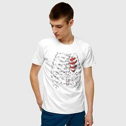 Футболка хлопковая мужская Skeleton цвета белый — фото 2