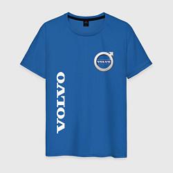 Футболка хлопковая мужская VOLVO цвета синий — фото 1