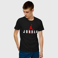 Футболка хлопковая мужская AIR JORDAN - THE LASTT DANCE цвета черный — фото 2
