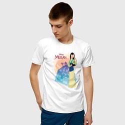 Футболка хлопковая мужская Fa Mulan цвета белый — фото 2