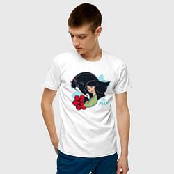 Футболка хлопковая мужская Mulan and Horse цвета белый — фото 2