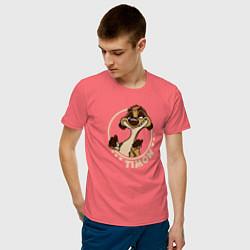 Мужская хлопковая футболка с принтом Timon, цвет: коралловый, артикул: 10266214700001 — фото 2