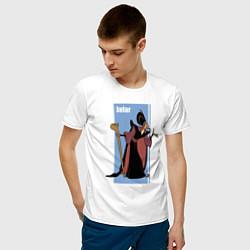 Футболка хлопковая мужская Джафар цвета белый — фото 2