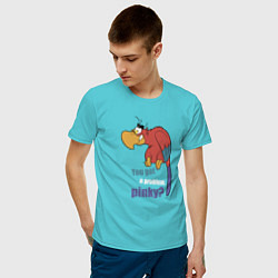 Футболка хлопковая мужская Яго цвета бирюзовый — фото 2