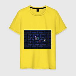 Футболка хлопковая мужская Pacman цвета желтый — фото 1