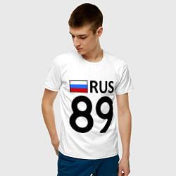 Футболка хлопковая мужская RUS 89 цвета белый — фото 2