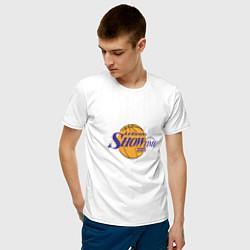 Мужская хлопковая футболка с принтом LeBron Showtime, цвет: белый, артикул: 10274328100001 — фото 2