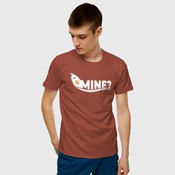 Футболка хлопковая мужская Mine? цвета кирпичный — фото 2