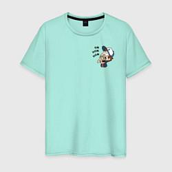 Мужская хлопковая футболка с принтом Диппер в шоке, цвет: мятный, артикул: 10275089500001 — фото 1