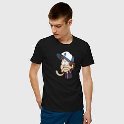Мужская хлопковая футболка с принтом Диппер Пайнс, цвет: черный, артикул: 10275092500001 — фото 2