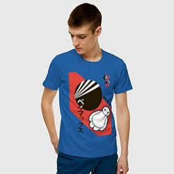 Футболка хлопковая мужская Baymax цвета синий — фото 2