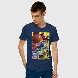Футболка хлопковая мужская Big Hero 6 цвета тёмно-синий — фото 2