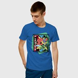 Футболка хлопковая мужская Big Hero 6 цвета синий — фото 2