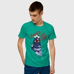 Футболка хлопковая мужская Злая королева цвета зеленый — фото 2