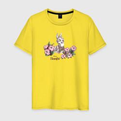 Футболка хлопковая мужская Thumper цвета желтый — фото 1