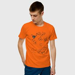 Футболка хлопковая мужская Бэмби цвета оранжевый — фото 2