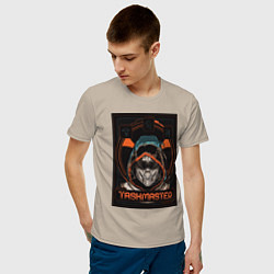 Футболка хлопковая мужская Taskmaster цвета миндальный — фото 2