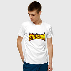 Футболка хлопковая мужская ETHEREUM x THRASHER цвета белый — фото 2