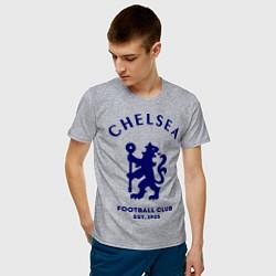 Футболка хлопковая мужская Chelsea Est. 1905 цвета меланж — фото 2