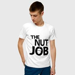 Футболка хлопковая мужская The nut job цвета белый — фото 2