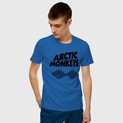 Футболка хлопковая мужская Arctic Monkeys цвета синий — фото 2