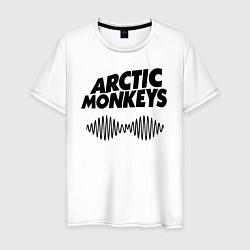 Футболка хлопковая мужская Arctic Monkeys цвета белый — фото 1