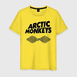 Футболка хлопковая мужская Arctic Monkeys цвета желтый — фото 1