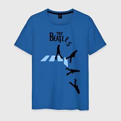 Футболка хлопковая мужская The Beatles: break down цвета синий — фото 1