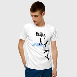 Футболка хлопковая мужская The Beatles: break down цвета белый — фото 2