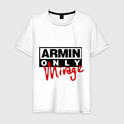 Футболка хлопковая мужская Armin Only: Mirage цвета белый — фото 1