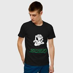 Футболка хлопковая мужская HC Anaheim Ducks Art цвета черный — фото 2