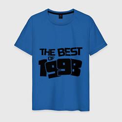 Футболка хлопковая мужская The best of 1998 цвета синий — фото 1