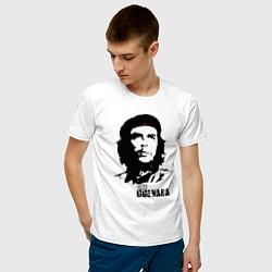 Футболка хлопковая мужская Эрнесто Че Гевара цвета белый — фото 2