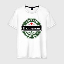 Футболка хлопковая мужская Hanneman цвета белый — фото 1