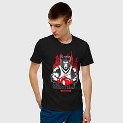 Футболка хлопковая мужская Moscow Mishka цвета черный — фото 2
