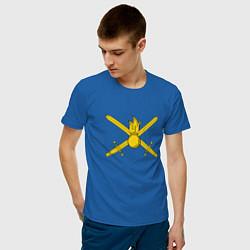Мужская хлопковая футболка с принтом Сухопутные войска, цвет: синий, артикул: 10062442100001 — фото 2