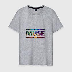 Футболка хлопковая мужская Muse Colour цвета меланж — фото 1