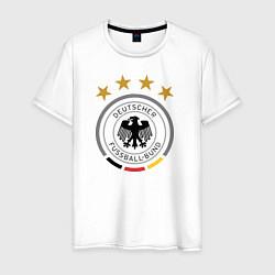 Футболка хлопковая мужская Deutscher Fussball-Bund цвета белый — фото 1