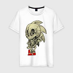 Футболка хлопковая мужская Sonic skeleton цвета белый — фото 1