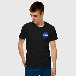 Футболка хлопковая мужская NASA цвета черный — фото 2