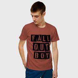 Футболка хлопковая мужская Fall Out Boy: Words цвета кирпичный — фото 2