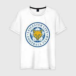 Футболка хлопковая мужская Leicester City FC цвета белый — фото 1
