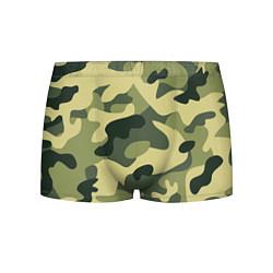 Трусы-боксеры мужские Камуфляж: зеленый/хаки цвета 3D — фото 1