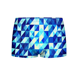 Мужские трусы Синяя геометрия