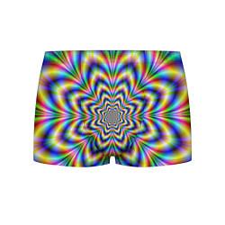 Трусы-боксеры мужские Красочная иллюзия цвета 3D — фото 1