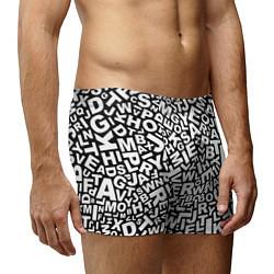 Трусы-боксеры мужские Английский алфавит цвета 3D-принт — фото 2