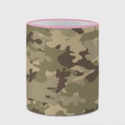Кружка 3D Камуфляж: хаки цвета 3D-розовый кант — фото 2