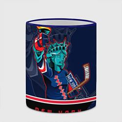 Кружка 3D New York Rangers цвета 3D-синий кант — фото 2