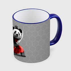 Кружка 3D Master Panda цвета 3D-синий кант — фото 1